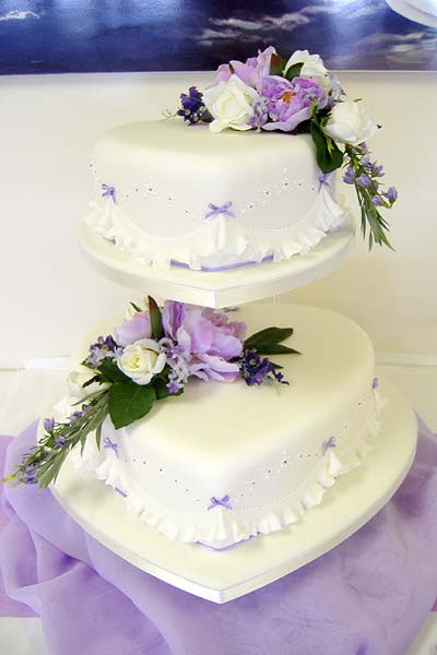 Heart Shaped Wedding Cakes  Wedding Cakes in Kent