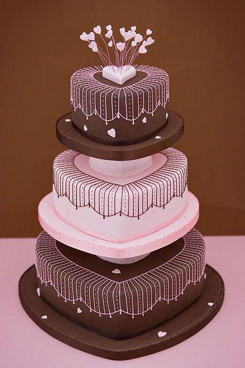 Hearts Wedding Cakes  Sophonie s blog Pistachio Press Letterpress Wedding