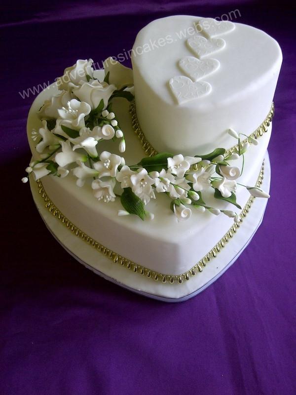 Hearts Wedding Cakes  Love Heart Wedding Cake