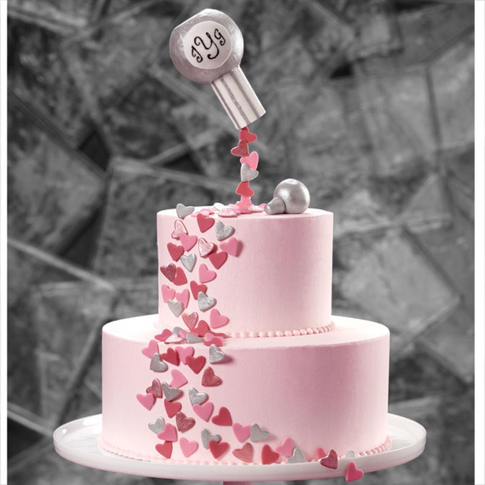Hearts Wedding Cakes  Confetti Hearts of Love Wedding Cake
