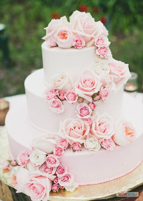 Heb Wedding Cakes  Roze bruidstaarten bekijk de leuke voorbeelden