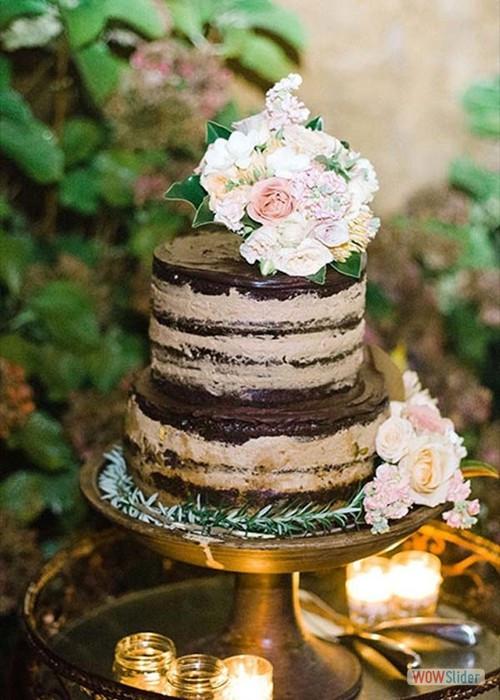 Heb Wedding Cakes  Voorbeelden voor bruine bruidstaarten en cupcakes