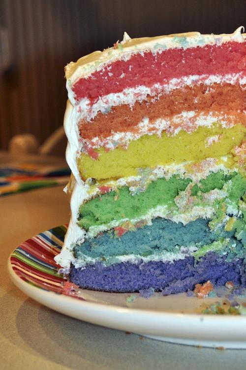 Heb Wedding Cakes  Zelf Rainbow cake maken Proud2Cook Proud2bme