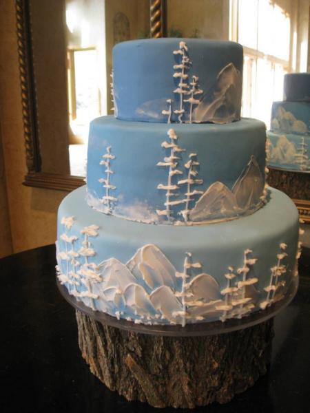 Heritage Wedding Cakes  Icy Mountains Cake Wedding Cakes
