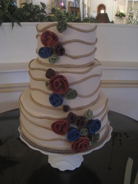 Heritage Wedding Cakes  Wedding Cake with Fondant Flowers Wedding Cakes