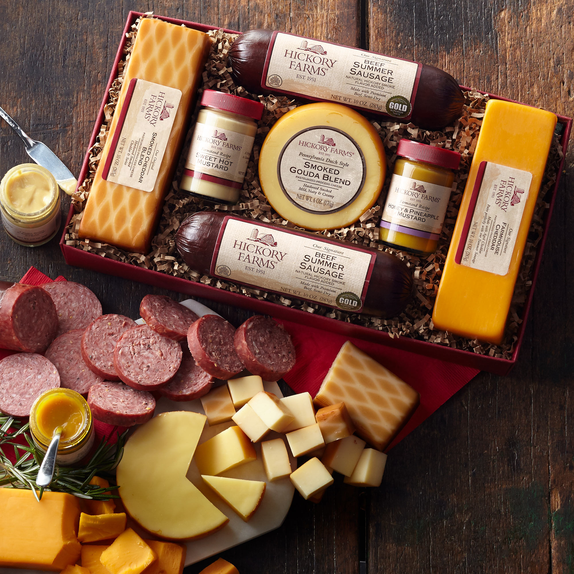 Hickory Farms Beef Summer Sausage  Summer Sausage and Cheese Gift Box