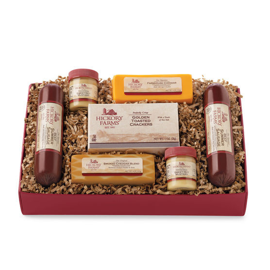 Hickory Farms Turkey Summer Sausage  Meat and Cheese Gift Baskets
