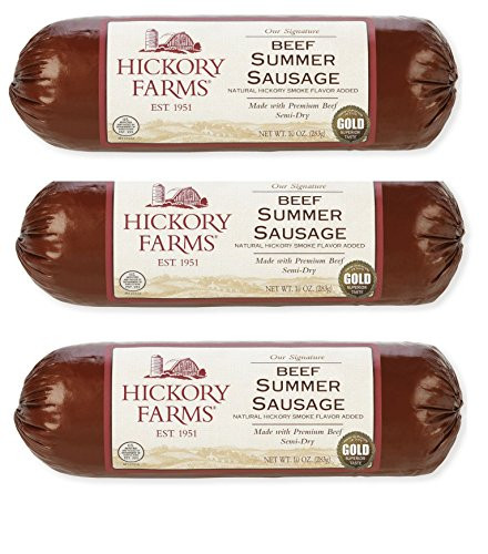 Hickory Farms Turkey Summer Sausage  Sausages Meat And Seafood Grocery And Gourmet Food