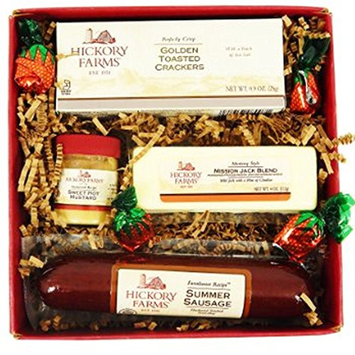 Hickory Farms Turkey Summer Sausage  Hickory Farms Summer Sausage and Cheese Gift Box Food