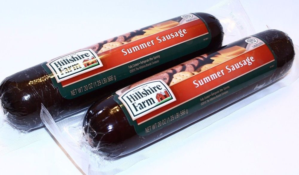 Hillshire Farms Beef Summer Sausage  2 Hillshire Farm SUMMER SAUSAGE Fully Cooked 1 25 LB