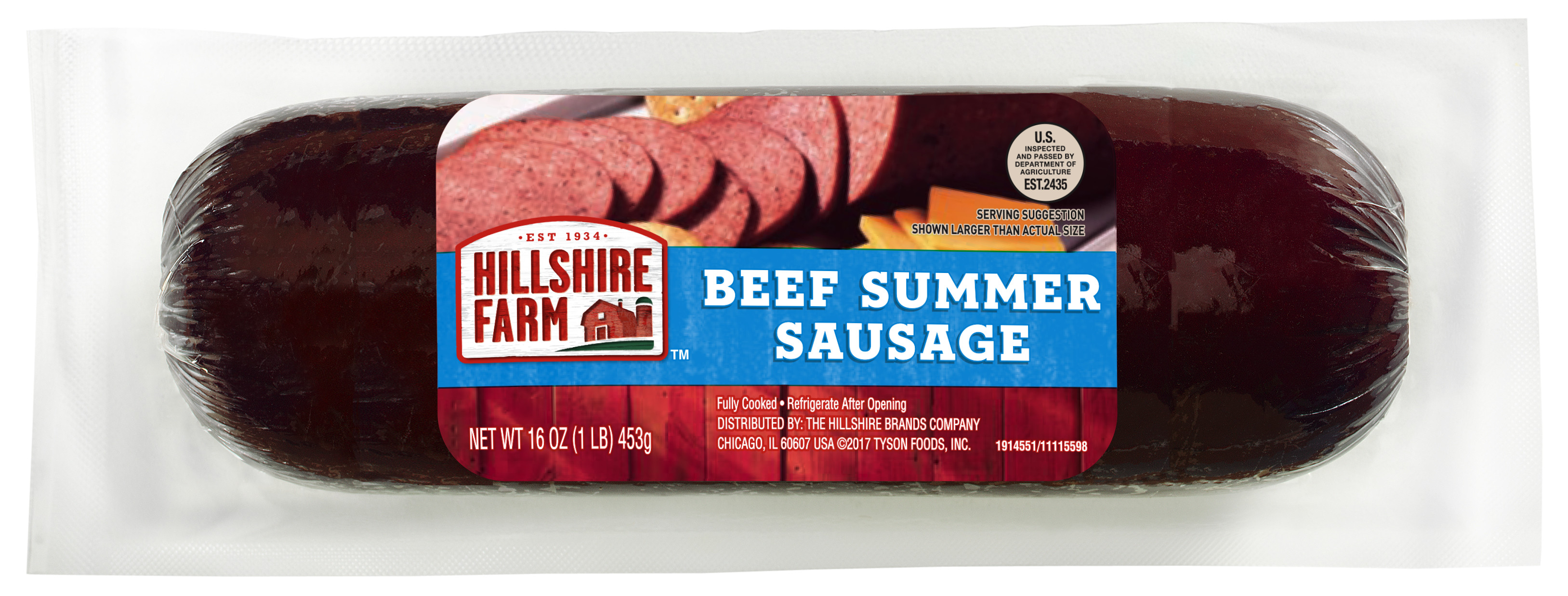 Hillshire Farms Beef Summer Sausage  how much is 1 oz of summer sausage