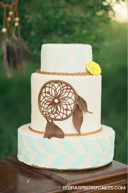Hippie Wedding Cakes  Dreamcatcher hippie wedding cake Weddings