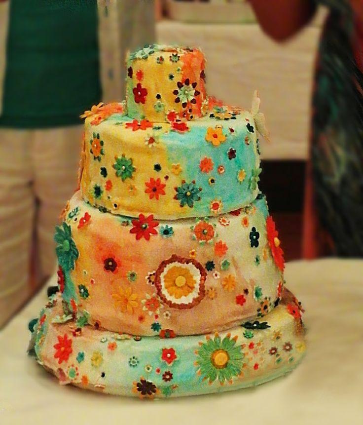 Hippie Wedding Cakes  Pin Hippie Wedding Bridesmaid Game Over Decorations Ideas