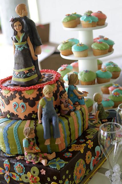 Hippie Wedding Cakes  bohemian bollywood hippie wedding cake