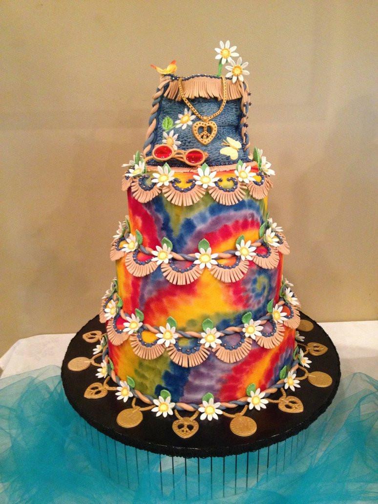 Hippie Wedding Cakes  60 s Hippy Cake by The EvIl Plankton on DeviantArt