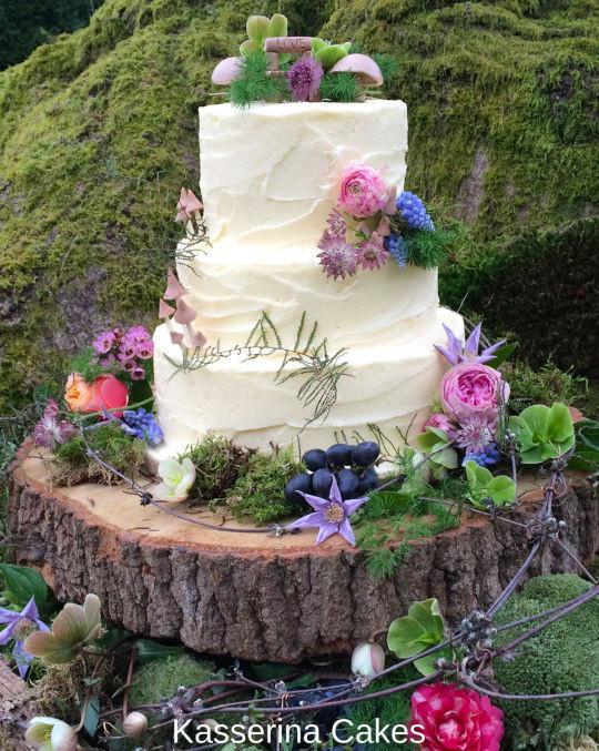 Hippie Wedding Cakes  Pixie Boho wedding cake cake by Kasserina Cakes CakesDecor