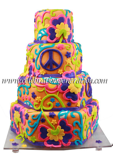 Hippie Wedding Cakes  Funky Wedding Cakes