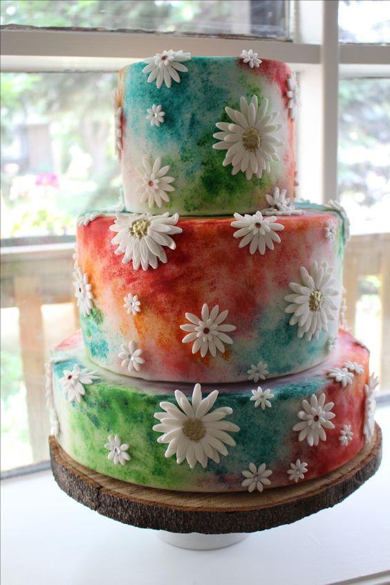 Hippie Wedding Cakes  Hippie wedding cake … Books Worth Reading