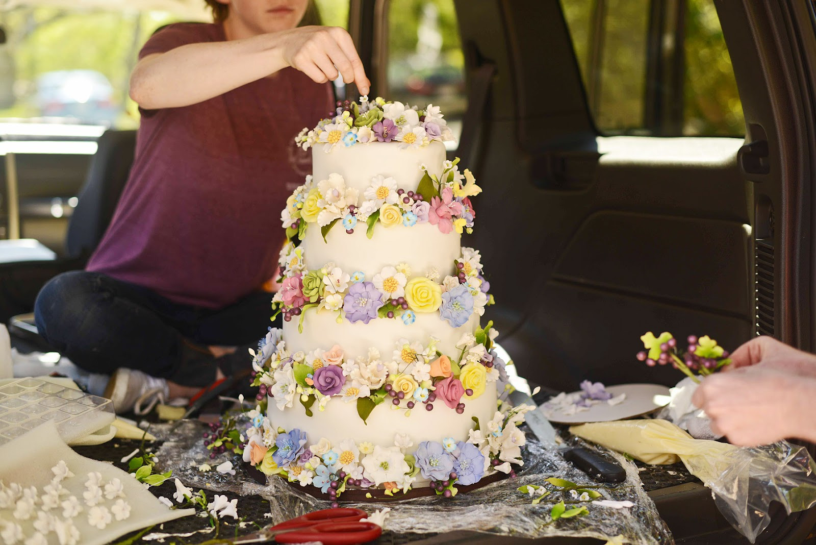 Hippie Wedding Cakes  FORTY FOUR SUNSETS PAMELA LOVE HIPPIE WEDDING PERFECTION