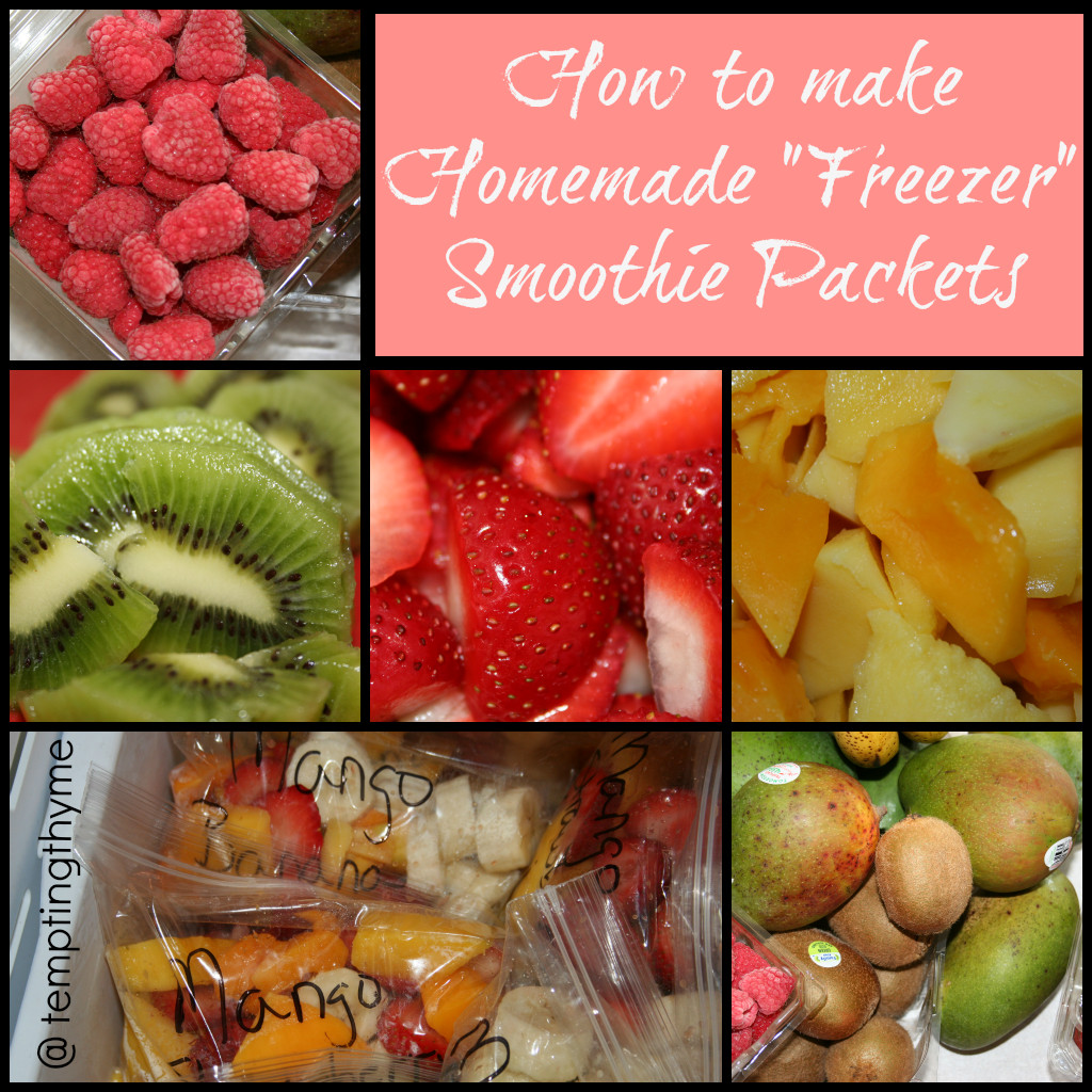 Homemade Fruit Smoothies Healthy  Homemade Freezer Smoothie Packets