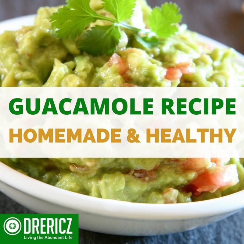 Homemade Guacamole Healthy  healthy guacamole recipe