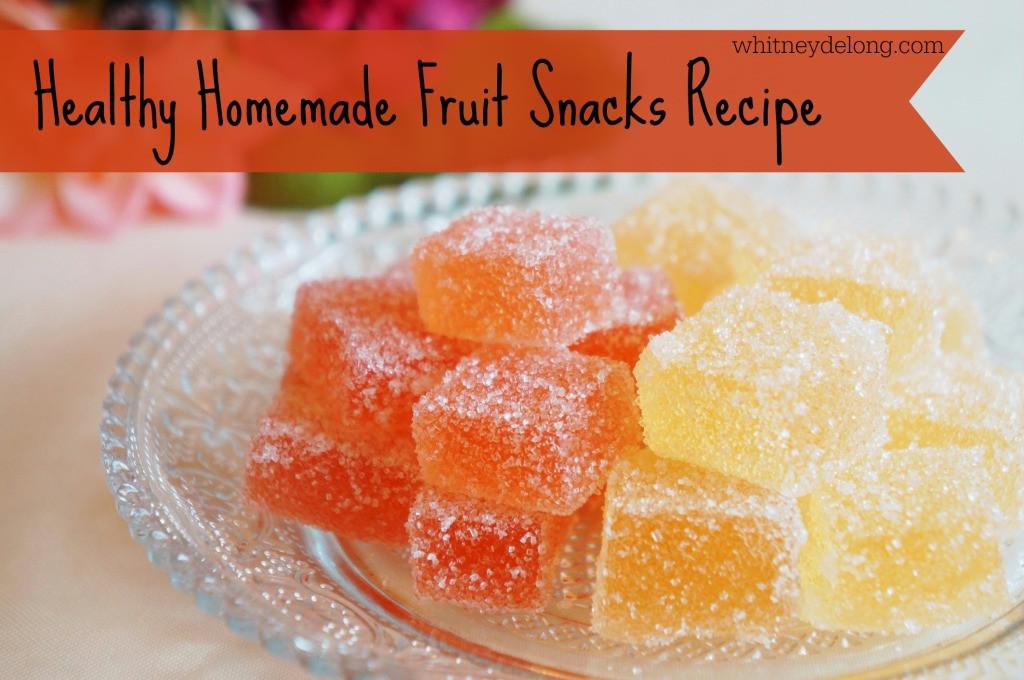 Homemade Healthy Snacks  homemade snack recipes