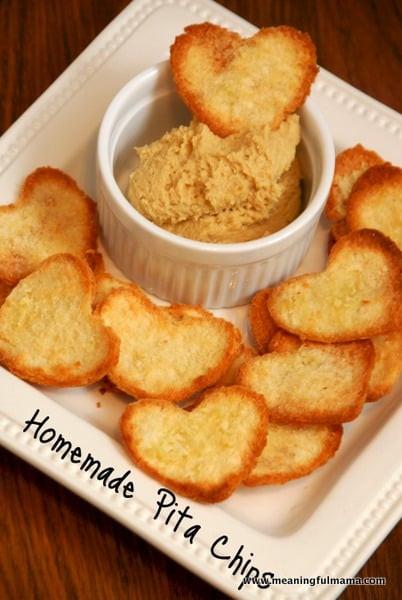 Homemade Healthy Snacks  Homemade Pita Chips Recipe & a Healthy Valentine Snack