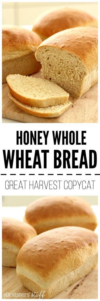 Honey Wheat Bread Healthy  Great Harvest Honey Whole Wheat Bread Copycat