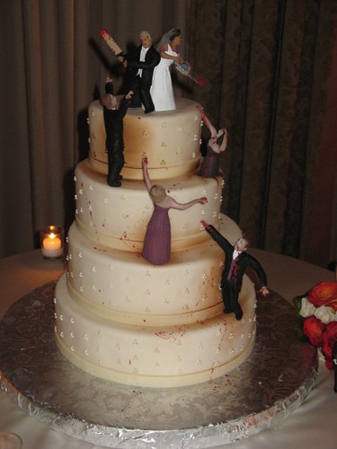 Horror Wedding Cakes  horror wedding cake