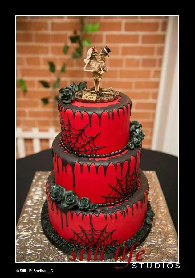 Horror Wedding Cakes  Cool wedding cake