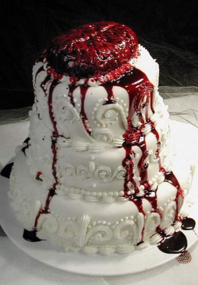 Horror Wedding Cakes  Pin Horror Themed Wedding Cake Topper Jason Voorhees