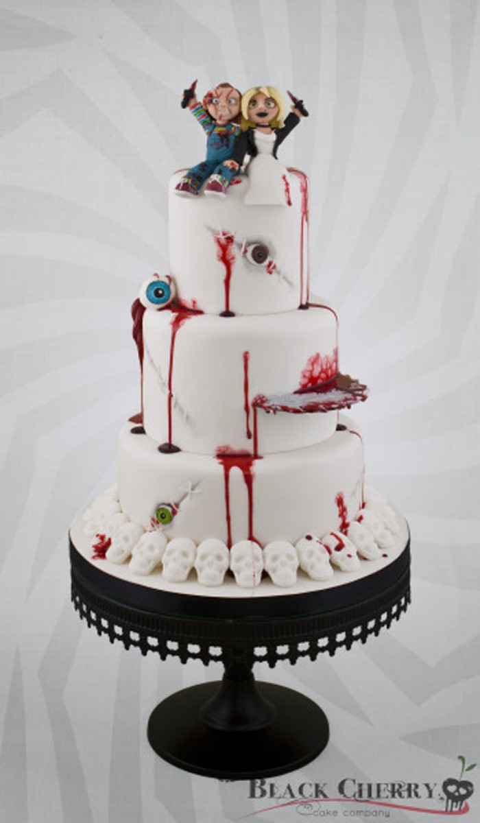 Horror Wedding Cakes  Til Death Do Us Part Bride of Chucky Wedding Cake