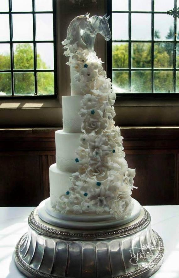 Horse Wedding Cakes  GORGEOUS Wedding Cake Topper Horse Sweet by DeborahMcDermott