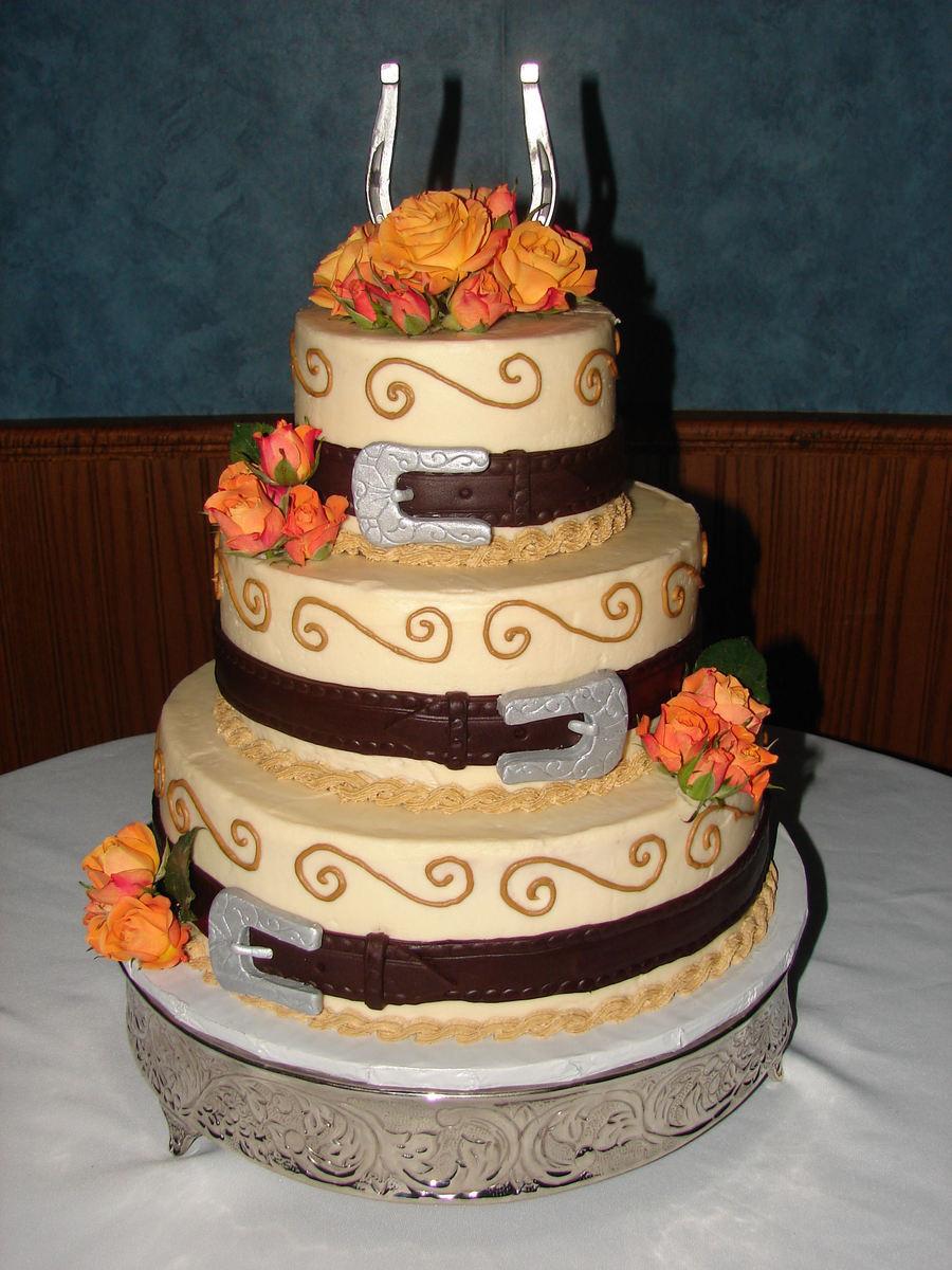 Horse Wedding Cakes  Horseshoe Wedding Cake CakeCentral