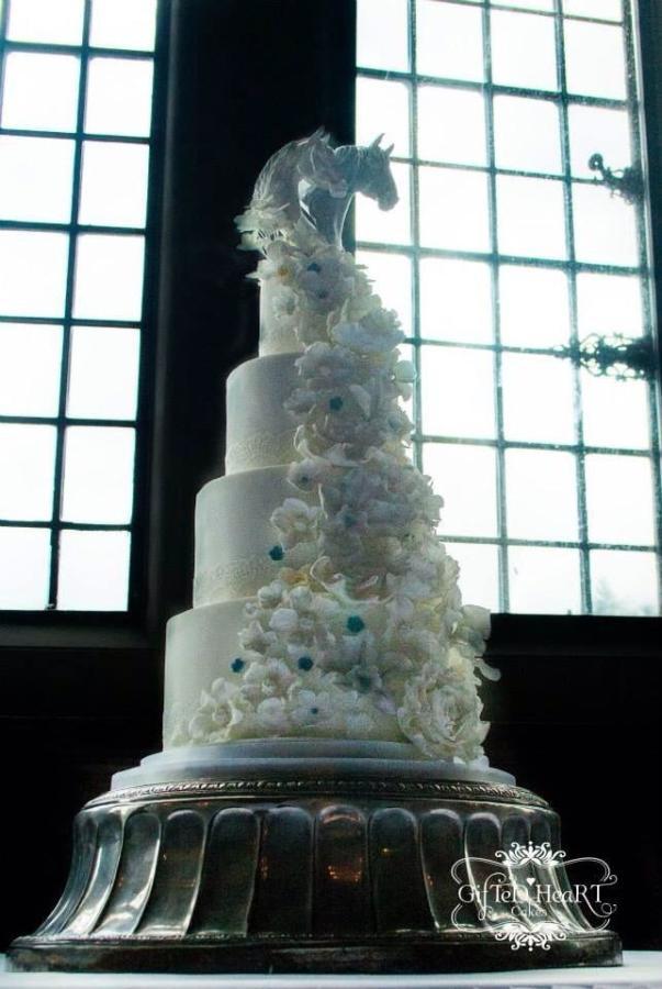Horse Wedding Cakes  Horse inspired Wedding Cake cake by Emma Waddington