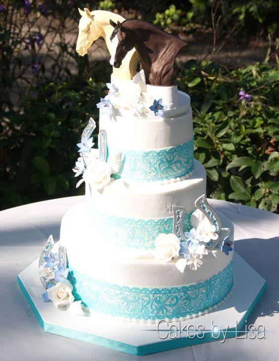 Horse Wedding Cakes  Pinterest • The world's catalog of ideas