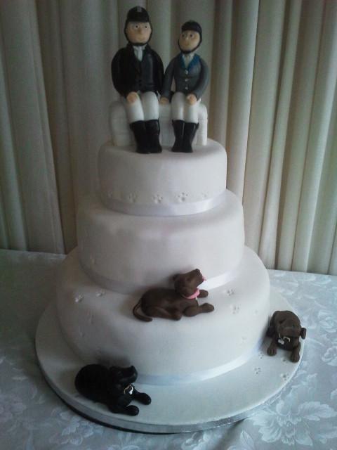 Horse Wedding Cakes  Horse rider themed wedding cake a photo on Flickriver