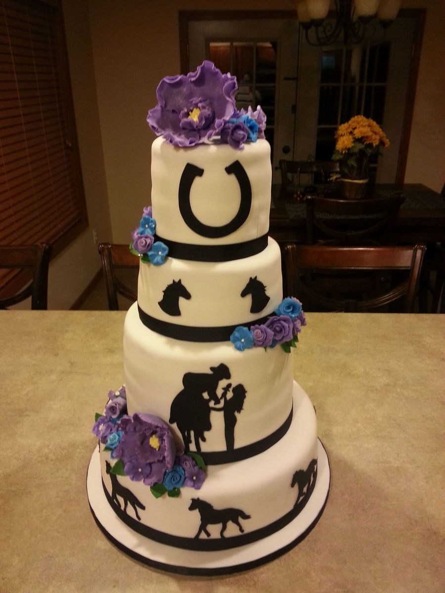 Horse Wedding Cakes  Horse Themed Wedding Cake CakeCentral