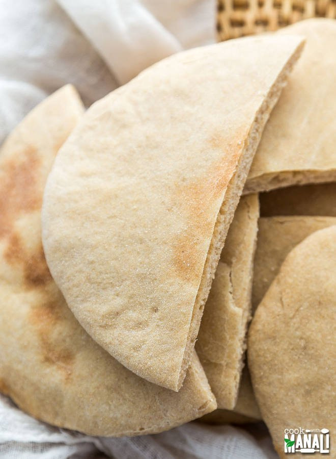 How Healthy Is Pita Bread  Whole Wheat Pita Bread Cook With Manali