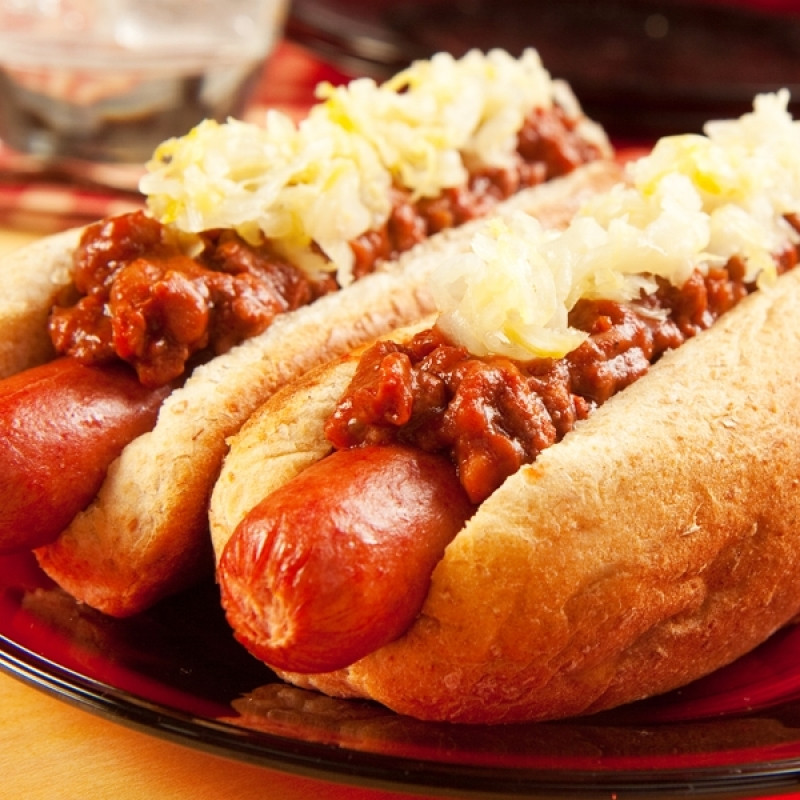 How Unhealthy Are Hot Dogs  Chili Dogs With Sauerkraut Recipe