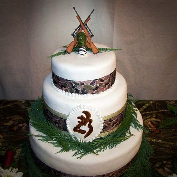 Hunting Wedding Cakes  23 Camo Wedding Cake Ideas Be Different With A