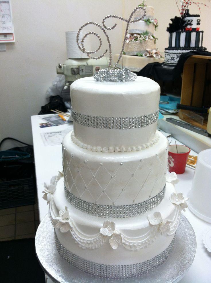 Hy Vee Wedding Cakes  Simple white on white wedding cake cakes