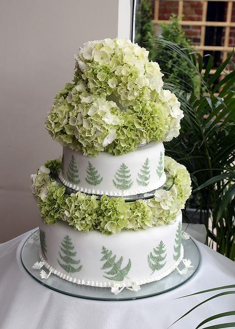 Hydrangeas Wedding Cakes  Hydrangea Cake