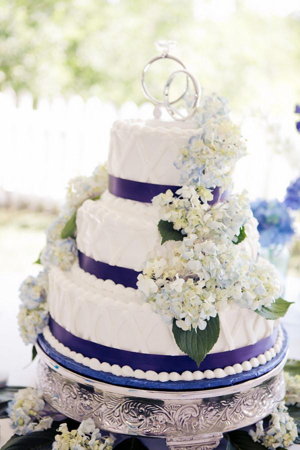 Hydrangeas Wedding Cakes  Purple Hydrangea Wedding Cake Elizabeth Anne Designs