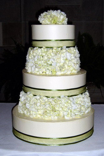 Hydrangeas Wedding Cakes  Tall Hydrangea Wedding Cake