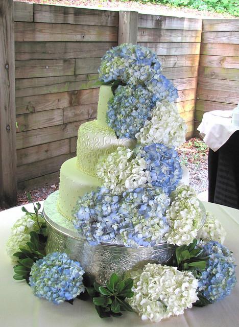 Hydrangeas Wedding Cakes Best 20 Hydrangea Wedding Cake A Photo On Flickriver