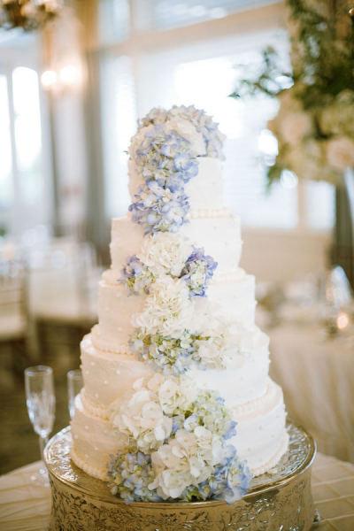 Hydrangeas Wedding Cakes  Party Resources August 2012