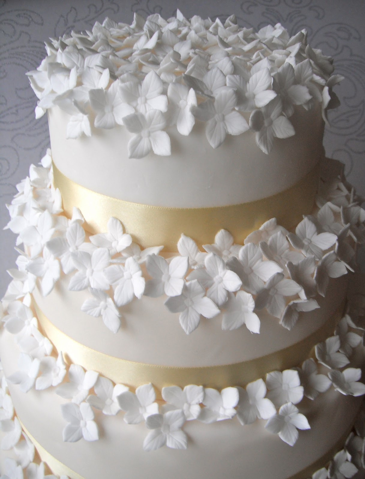 Hydrangeas Wedding Cakes  Hydrangea Wedding Cake