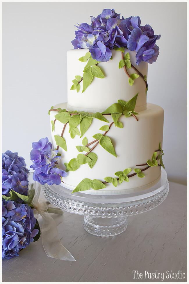 Hydrangeas Wedding Cakes  A nature inspired cake design for a charming backyard