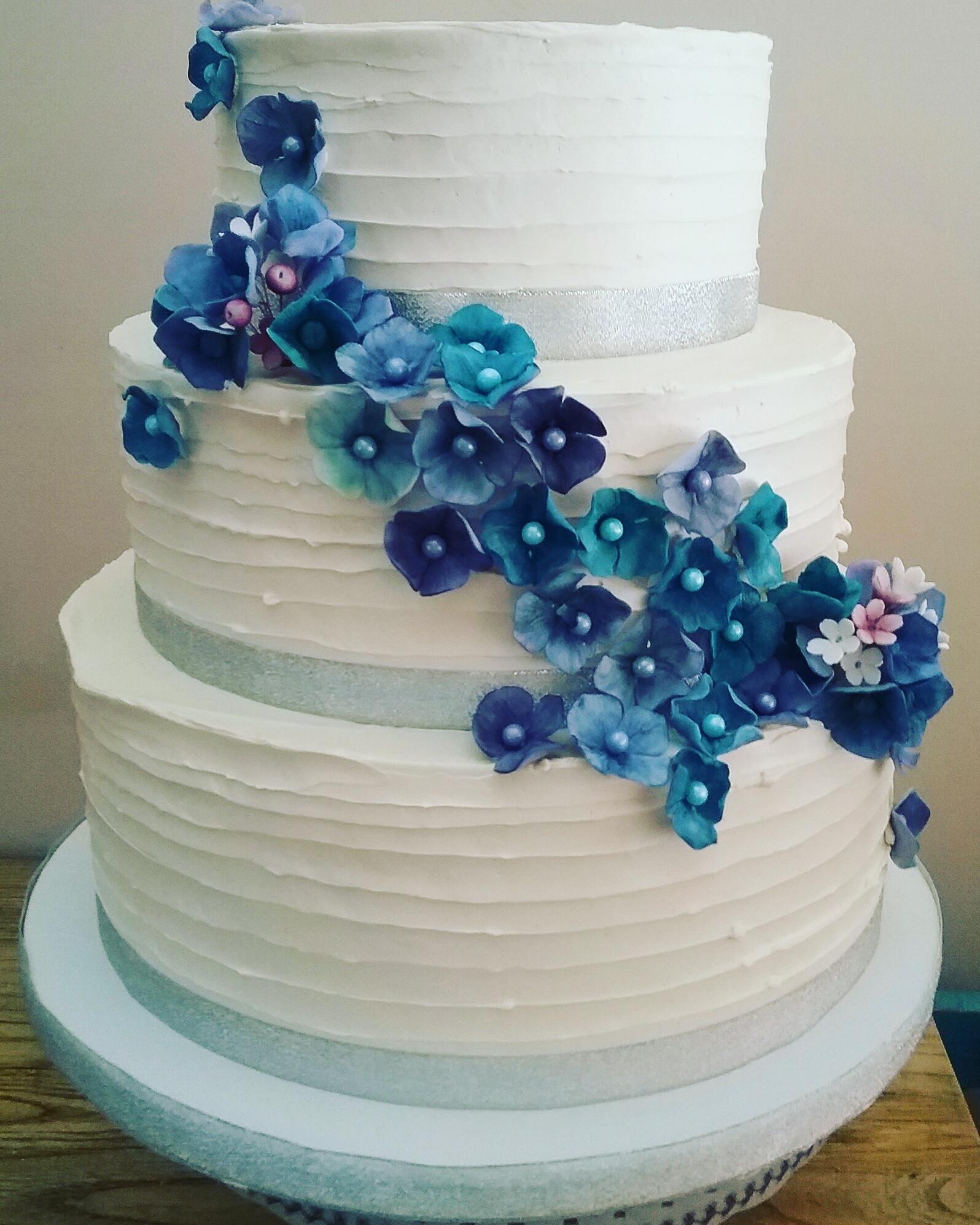 Hydrangeas Wedding Cakes  Hydrangea Wedding Cake CakeCentral